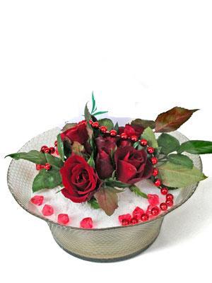 İsparta çiçek siparişi vermek  EN ÇOK Sevenlere 7 adet kirmizi gül mika yada cam tanzim