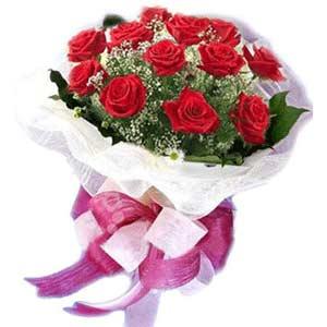 İsparta çiçek satışı  11 adet kırmızı güllerden buket modeli
