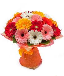Renkli gerbera buketi  İsparta anneler günü çiçek yolla