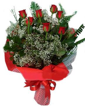 7 kırmızı gül buketi  İsparta çiçek servisi , çiçekçi adresleri