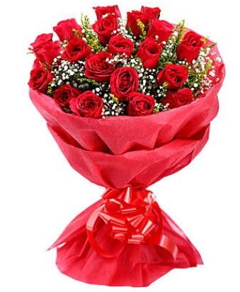 21 adet kırmızı gülden modern buket  İsparta çiçek gönderme