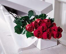 İsparta çiçek satışı  özel kutuda 12 adet gül