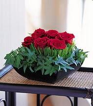 İsparta çiçek siparişi sitesi  10 adet kare mika yada cam vazoda gül tanzim