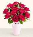 İsparta hediye çiçek yolla  10 kirmizi gül cam yada mika vazo tanzim