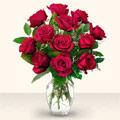 İsparta çiçek yolla  10 adet gül cam yada mika vazo da