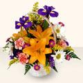 İsparta 14 şubat sevgililer günü çiçek  sepet içinde karisik çiçekler
