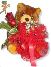 oyuncak ayi ve gül tanzim  İsparta çiçekçiler
