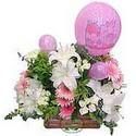 balon ve çiçeklerle tanzim  İsparta internetten çiçek satışı