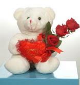 3 adetgül ve oyuncak   İsparta online çiçekçi , çiçek siparişi