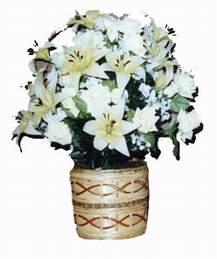 yapay karisik çiçek sepeti   İsparta çiçek mağazası , çiçekçi adresleri
