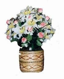yapay karisik çiçek sepeti   İsparta çiçek servisi , çiçekçi adresleri