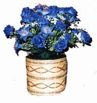 yapay mavi çiçek sepeti  İsparta cicekciler , cicek siparisi