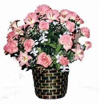 yapay karisik çiçek sepeti  İsparta çiçek online çiçek siparişi