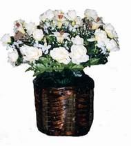 yapay karisik çiçek sepeti   İsparta cicek , cicekci