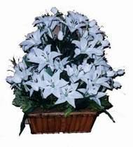 yapay karisik çiçek sepeti   İsparta online çiçek gönderme sipariş