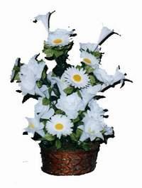 yapay karisik çiçek sepeti  İsparta çiçek siparişi vermek