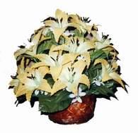 yapay karisik çiçek sepeti   İsparta çiçek siparişi sitesi