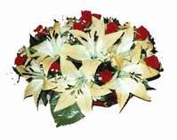 yapay karisik çiçek sepeti   İsparta internetten çiçek siparişi