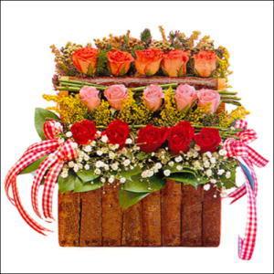 sandikta 3 kat güllerden   İsparta cicekciler , cicek siparisi