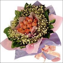 11  adet  gül ve   elyaflar   İsparta çiçekçi mağazası