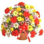 karisik renkli çiçek sepet   İsparta çiçek gönderme sitemiz güvenlidir