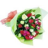 12 adet renkli gül buketi   İsparta çiçek gönderme sitemiz güvenlidir