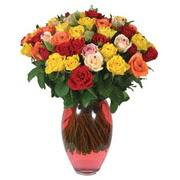 51 adet gül ve kaliteli vazo   İsparta çiçek gönderme sitemiz güvenlidir