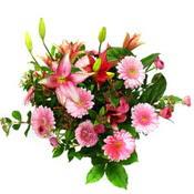 lilyum ve gerbera çiçekleri - çiçek seçimi -  İsparta çiçek gönderme