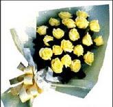 sari güllerden sade buket  İsparta çiçek , çiçekçi , çiçekçilik