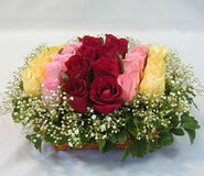 15 adet reprenkli gül sepeti   İsparta çiçek yolla