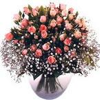 büyük cam fanusta güller   İsparta çiçek yolla