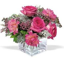 İsparta cicekciler , cicek siparisi  cam içerisinde 5 gül 7 gerbera çiçegi