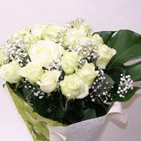 İsparta hediye çiçek yolla  11 adet sade beyaz gül buketi