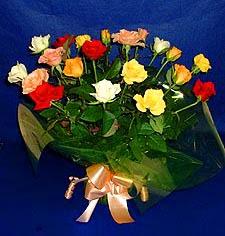 İsparta hediye çiçek yolla  13 adet karisik renkli güller