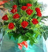 12 adet gül buketi  İsparta anneler günü çiçek yolla