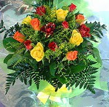 13 adet karisik gül buketi demeti   İsparta uluslararası çiçek gönderme