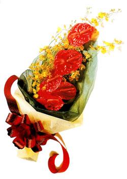 özel 5 adet antorium buketi   İsparta çiçek gönderme sitemiz güvenlidir