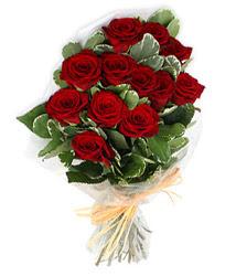 İsparta çiçek yolla , çiçek gönder , çiçekçi   9 lu kirmizi gül buketi.