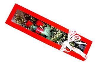 İsparta hediye çiçek yolla  Kutuda 3 adet gül