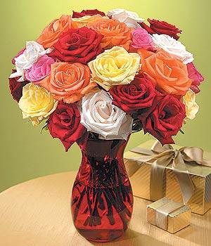 İsparta anneler günü çiçek yolla  13 adet renkli gül