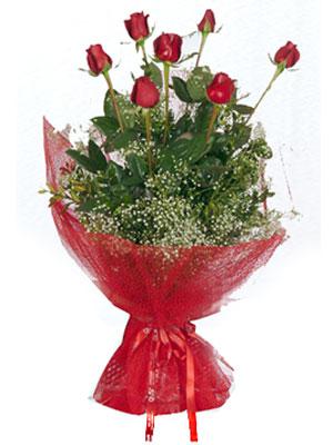 İsparta çiçek servisi , çiçekçi adresleri  7 adet gülden buket görsel sik sadelik