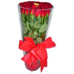 İsparta çiçek online çiçek siparişi  12 adet kirmizi gül cam yada mika vazo tanzim