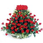 İsparta kaliteli taze ve ucuz çiçekler  41 adet kirmizi gülden sepet tanzimi