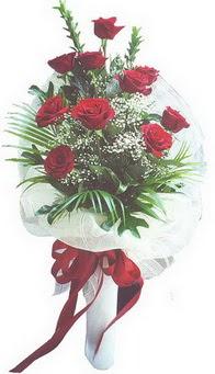 İsparta hediye çiçek yolla  10 adet kirmizi gülden buket tanzimi özel anlara