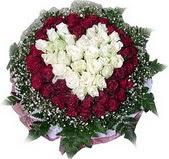 İsparta çiçek mağazası , çiçekçi adresleri  27 adet kirmizi ve beyaz gül sepet içinde