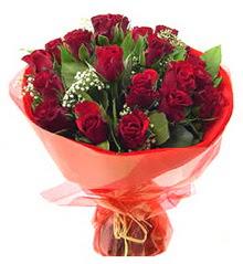 İsparta anneler günü çiçek yolla  11 adet kimizi gülün ihtisami buket modeli