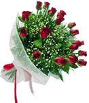 İsparta internetten çiçek satışı  11 adet kirmizi gül buketi sade ve hos sevenler