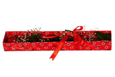 İsparta çiçekçi telefonları  kutu içerisinde 1 adet kirmizi gül