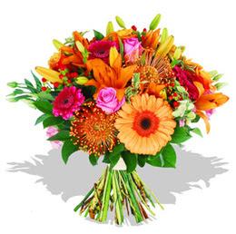 İsparta çiçekçi telefonları  Karisik kir çiçeklerinden görsel demet