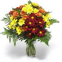İsparta çiçek siparişi sitesi  Karisik çiçeklerden mevsim vazosu